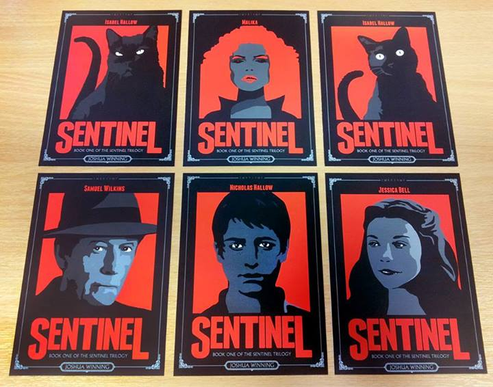 Sentinel character postcards