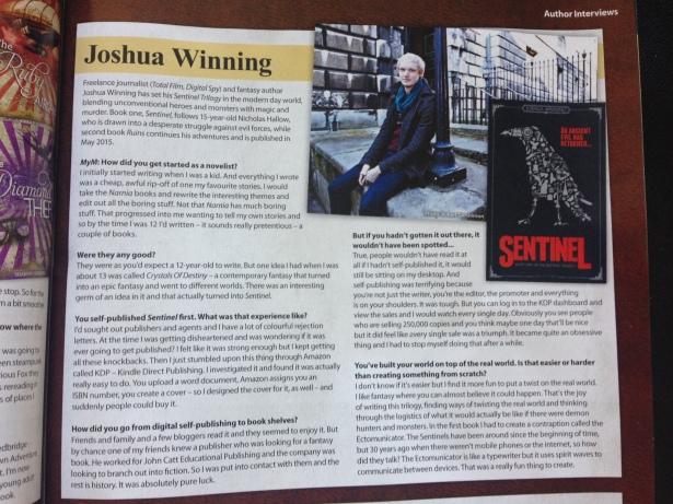 MyM magazine Sentinel Joshua Winning interview